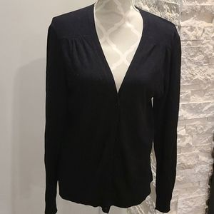 Rickis black vneck cardigan with button up front